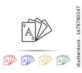 card deck multi color style...