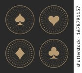 playing cards suits icons with... | Shutterstock .eps vector #1678791157