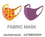 two colorful fabric face masks... | Shutterstock .eps vector #1678803304