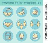 poster coronavirus covid 19... | Shutterstock .eps vector #1678813807