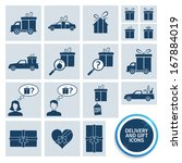 delivery and gift icons. eps10. | Shutterstock .eps vector #167884019