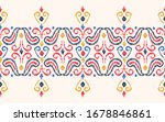 hand drawn colorful ethnic... | Shutterstock .eps vector #1678846861