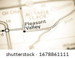 Pleasant Valley. Michigan. USA on a map