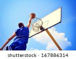 Basketball Player In Action...