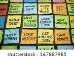 popular new year goals or... | Shutterstock . vector #167887985