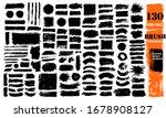 brush strokes bundle. vector... | Shutterstock .eps vector #1678908127