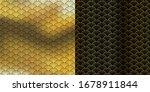 art deco circle fan design.... | Shutterstock .eps vector #1678911844