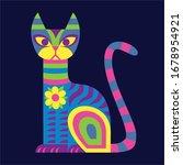 vector cute colorful cartoon... | Shutterstock .eps vector #1678954921