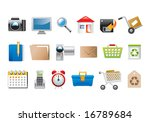 vector illustration of a set of ...   Shutterstock .eps vector #16789684