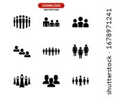 people icon or logo isolated... | Shutterstock .eps vector #1678971241