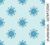 corona virus 2019 ncov seamless ... | Shutterstock .eps vector #1678972504