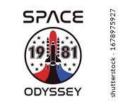 space odyssey 1981 rocket... | Shutterstock .eps vector #1678975927