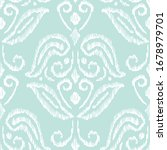 hand drawn aqua mint and white... | Shutterstock .eps vector #1678979701