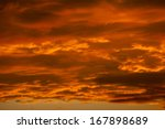 Dramatic Orange Clouds At...