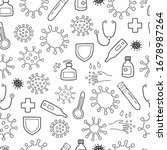 seamless vector pattern with... | Shutterstock .eps vector #1678987264