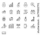 finance line art icon set vector   Shutterstock .eps vector #1679003791