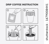 instruction of dripped making... | Shutterstock .eps vector #1679008441