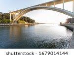 Arrabida Bridge Crossing Douro...
