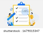 to do list and planning... | Shutterstock .eps vector #1679015347