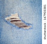 Blue Jean Texture With A Hole...