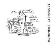 Illustration Of Houses In A...