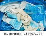 medical trash. coronavirus... | Shutterstock . vector #1679071774