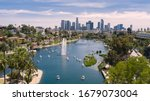 Aerial View Of Echo Park With...