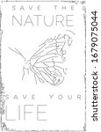 social poster. save the nature... | Shutterstock .eps vector #1679075044