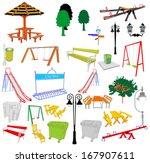 outdoor park vector elements...   Shutterstock .eps vector #167907611