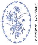 decorative bouquet  floral...   Shutterstock .eps vector #1679090314