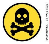 Black Skull With Crossed Bones...