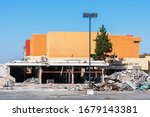 Partially Demolished Large...