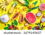 assortment tropical exotic...   Shutterstock . vector #1679145637
