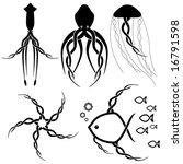 various vector celtic sealife... | Shutterstock .eps vector #16791598