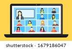online class. stay school learn ... | Shutterstock .eps vector #1679186047