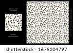 floral seamless pattern. black... | Shutterstock .eps vector #1679204797