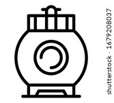 round gas bottle icon. outline... | Shutterstock .eps vector #1679208037