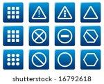 gadget square icons set. blue   ... | Shutterstock .eps vector #16792618
