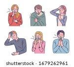 characters showing various... | Shutterstock .eps vector #1679262961