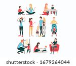 babysitters people flat images... | Shutterstock .eps vector #1679264044