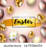 happy easter card with... | Shutterstock .eps vector #1679286454