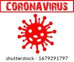 coronavirus red  icon symbol... | Shutterstock .eps vector #1679291797