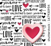 valentines day greeting card... | Shutterstock .eps vector #167930954