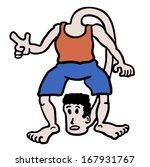 bizarre man draw   Shutterstock .eps vector #167931767