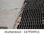 rust steel grating drain cover | Shutterstock . vector #167934911