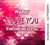 happy valentines day card | Shutterstock .eps vector #167936894