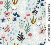 seamless floral pattern.... | Shutterstock .eps vector #1679380981