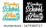 goodbye school hello summer... | Shutterstock .eps vector #1679383717
