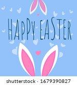 blue easter card  background... | Shutterstock .eps vector #1679390827