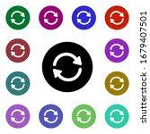 refresh arrows multi color...